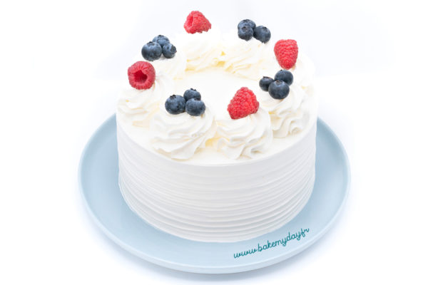 Bake my day - layer cake poire framboise