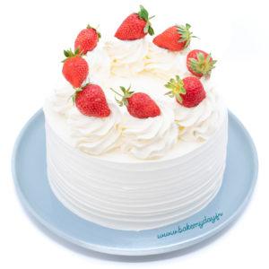 layer cake façon fraisier par Bake my day